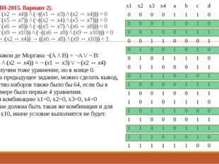 23 (Из ФИПИ-2015. Вариант 2). ((x1 ↔ x3) \/ (x2 ↔ x4)) /\ (¬((x1 ↔ x3) /\ (x2