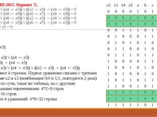 23 (Из ФИПИ-2015. Вариант 7). (¬(x2 ↔ x3) \/ (x4 ↔ x5)) \/ ((x2 ↔ x3) → (x4 ↔