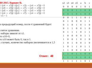23 (Из ФИПИ-2015. Вариант 8). (¬(x2 ↔ x3) \/ (x4 ↔ x5)) \/ ((x2 ↔ x3) → (x4 ↔
