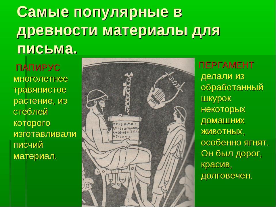 Самые популярные в древности материалы для письма. ПАПИРУС многолетнее травян...