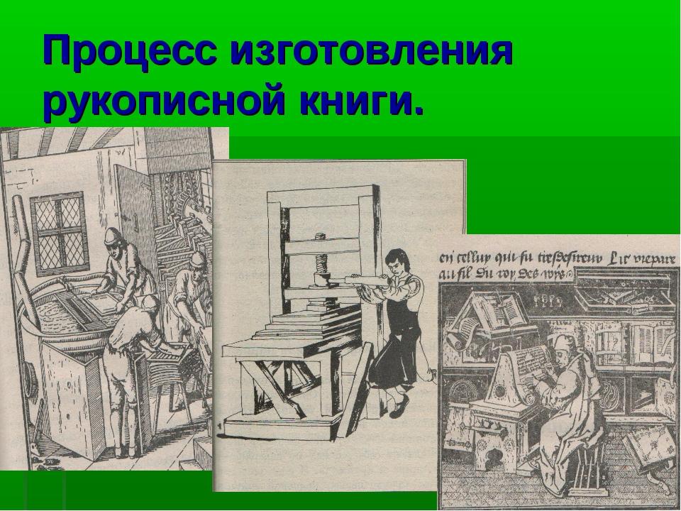 Процесс изготовления рукописной книги.