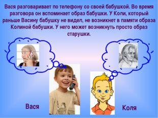Вася разговаривает по телефону со своей бабушкой. Во время разговора он вспом