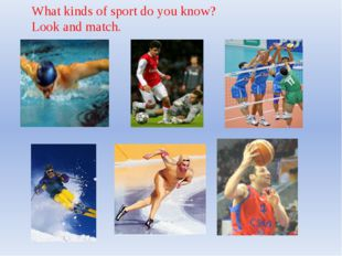 What kinds of sport do you know? Look and match.