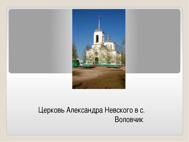 Церковь Александра Невского в с. Воловчик