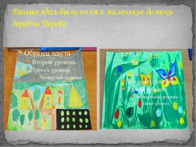 Раньше здесь были поля и маленькие домики деревни Перово