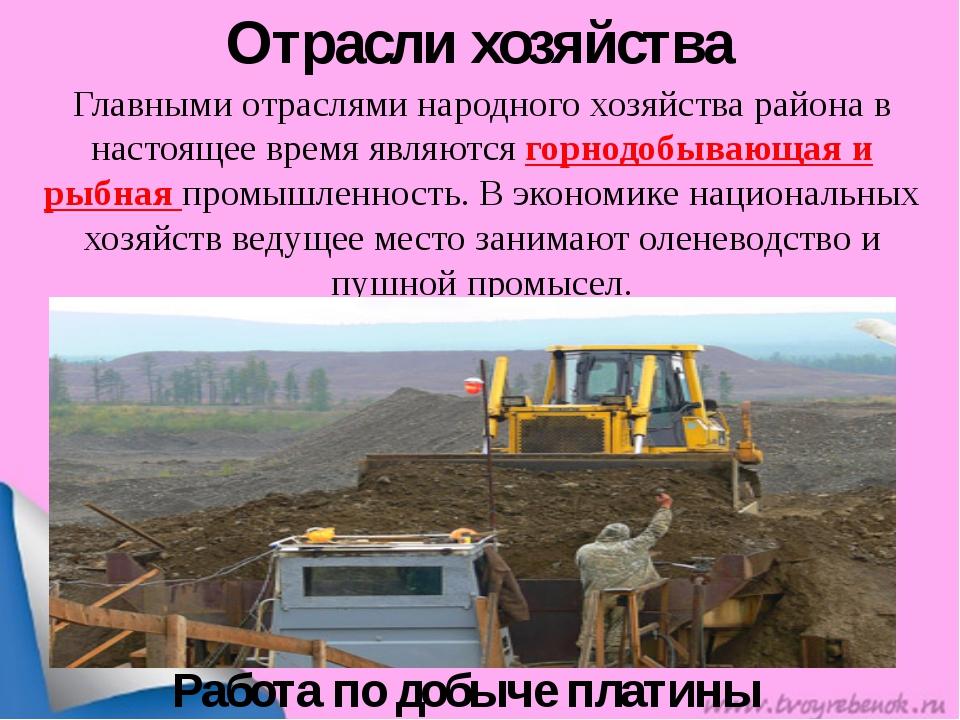 Отрасли хозяйства Главными отраслями народного хозяйства района в настоящее в...
