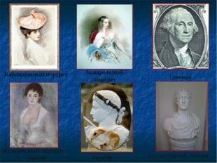 Карандашный портрет Акварельный портрет Гравюра Живописный портрет (масло) Р
