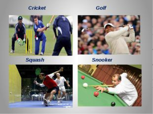 Cricket Golf Squash Snooker