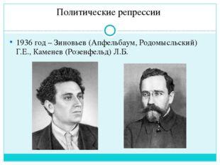 Политические репрессии 1937 год – Тухачевский М.Н.