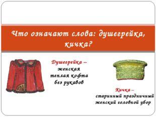 Душегрейка – женская теплая кофта без рукавов Что означают слова: душегрейка,