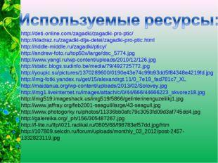 http://deti-online.com/zagadki/zagadki-pro-ptic/ http://kladraz.ru/zagadki-dl
