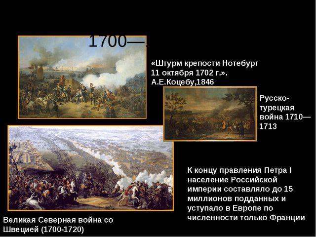 Великая Северная война со Швецией (1700-1720) «Штурм крепости Нотебург 11 окт...