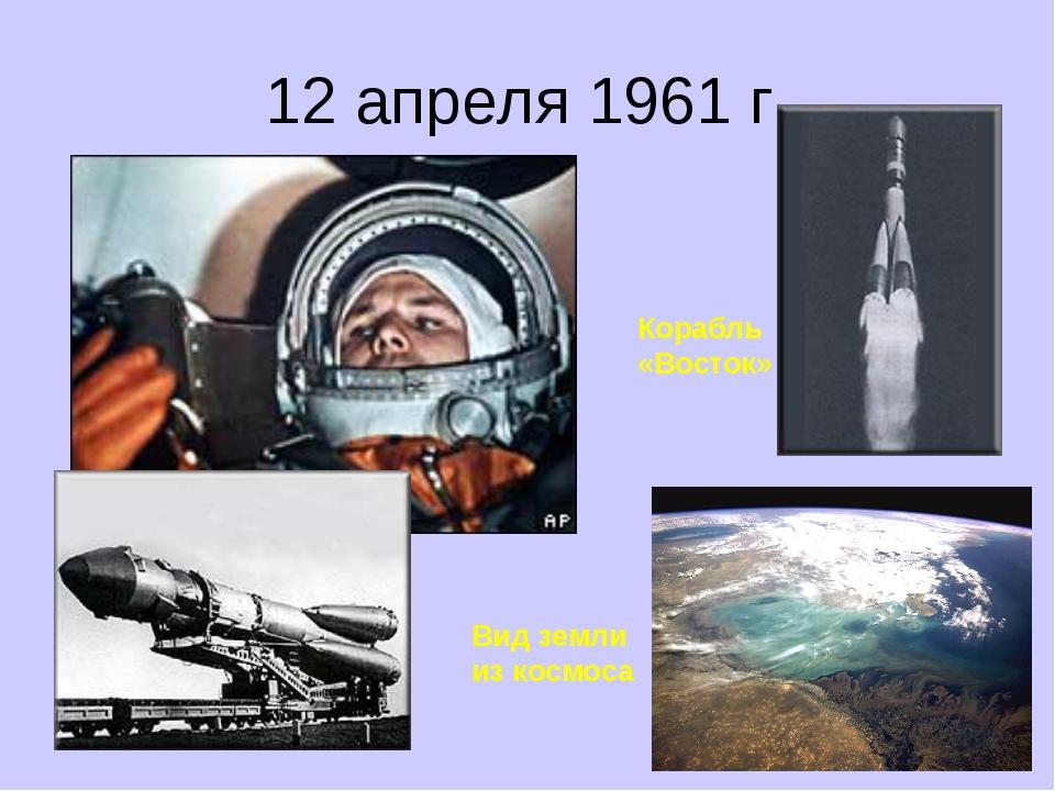 12 апреля 1961 г. Корабль «Восток» Вид земли из космоса