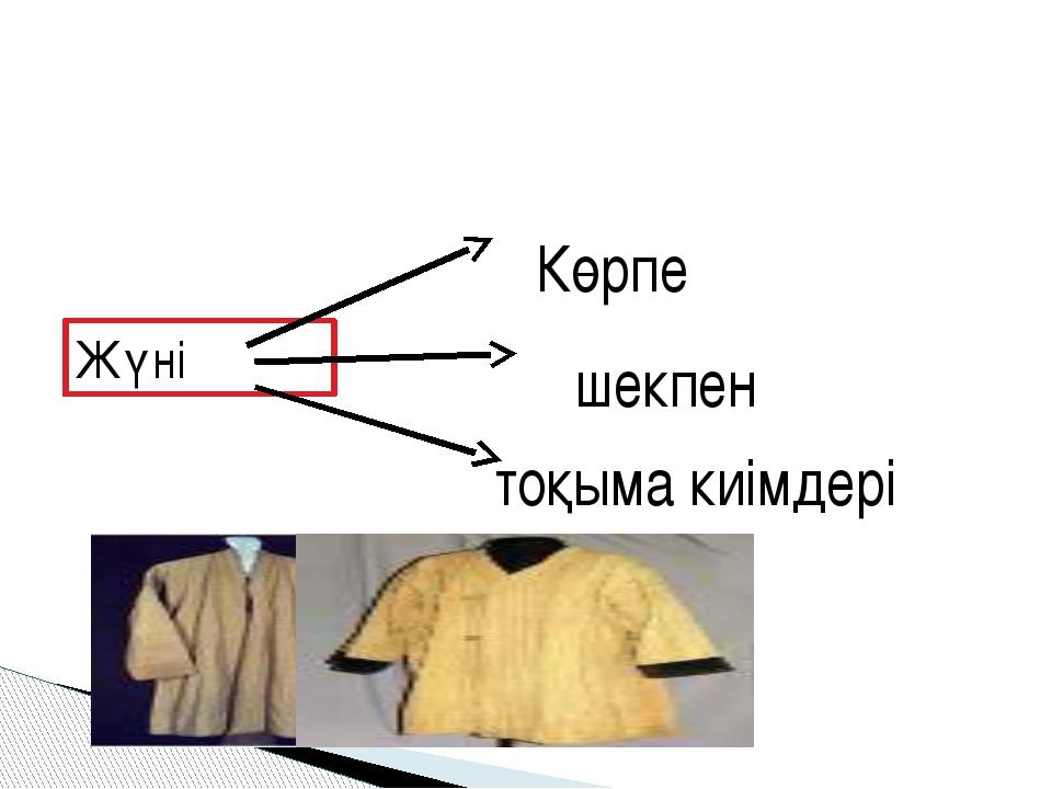 Жүні Көрпе шекпен тоқыма киімдері