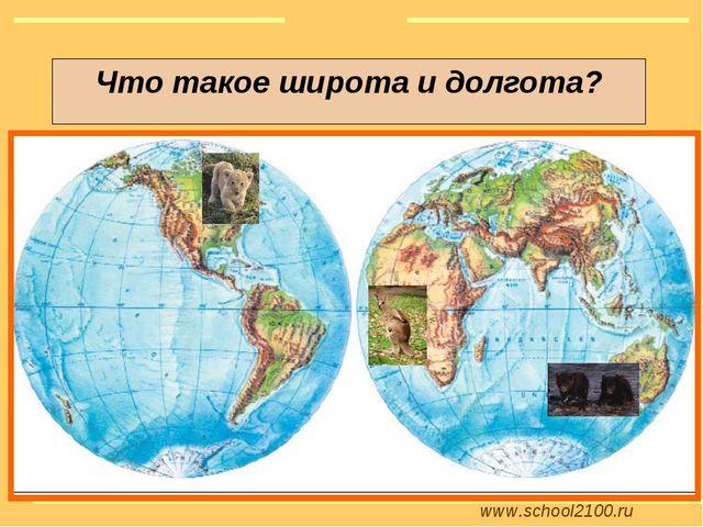 www.school2100.ru Что такое широта и долгота?