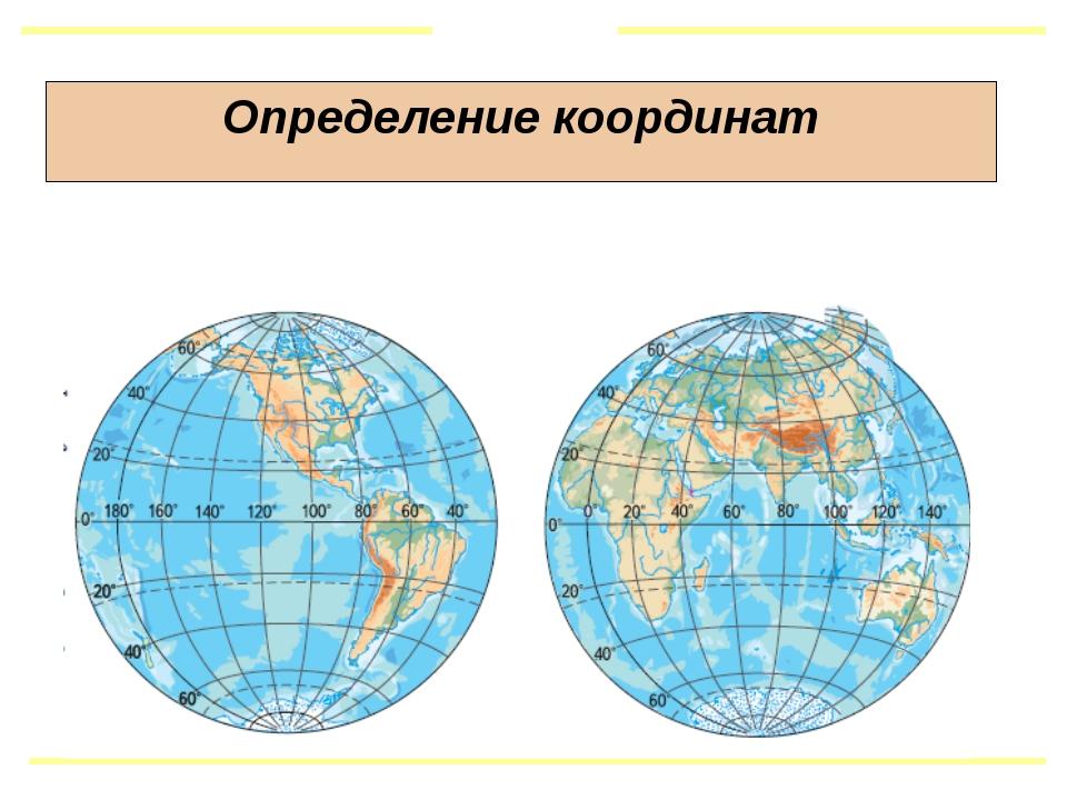 Определение координат