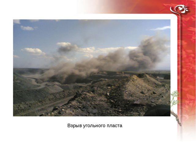 Взрыв угольного пласта