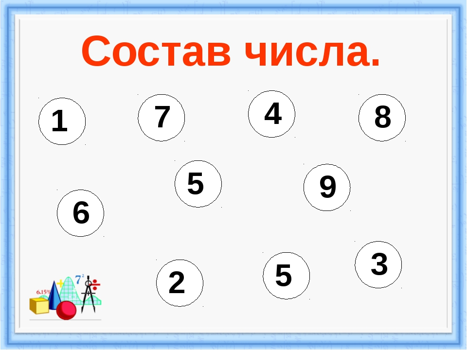Состав числа. 1 9 2 8 3 7 4 6 5 5