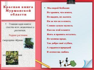 Красная книга Мурманской области Главная идея книги: спасти всех животных и р