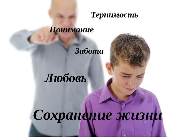 Терпимость Понимание Забота Любовь Сохранение жизни