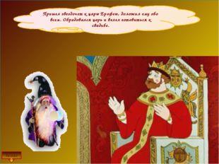 Пришел звездочет к царю Ерофею, доложил ему обо всем. Обрадовался царь и веле