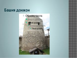 Башня донжон