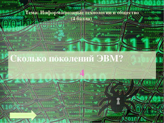 Тема: Информационные технологии и общество (8 баллов) Что такое информатизаци...