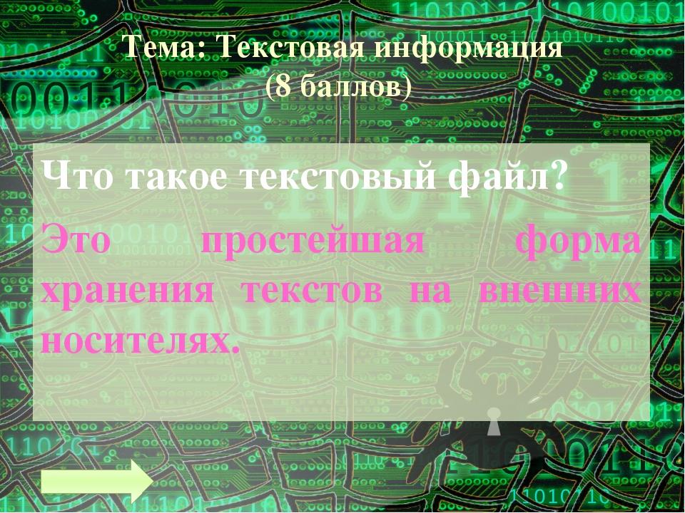 Тема: Графическая информация (5 баллов) Минимальным элементом изображения в в...
