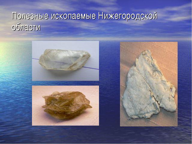 Полезные ископаемые Нижегородской области