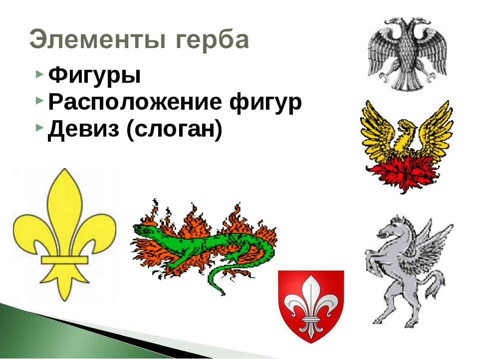 Фигуры Расположение фигур Девиз (слоган)