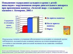 Ю.Н.Гутов, В.М.Позняковский «Влияние напитка, обогащенного витаминами и минер