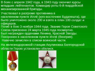 Во время Керченской десантной операции возглавил группу морских пехотинцев,