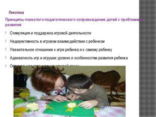 Лекотека Принципы психолого-педагогического сопровождения детей с проблемами