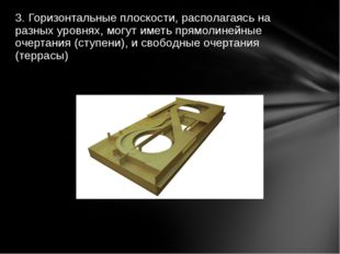 3. Горизонтальные плоскости, располагаясь на разных уровнях, могут иметь прям