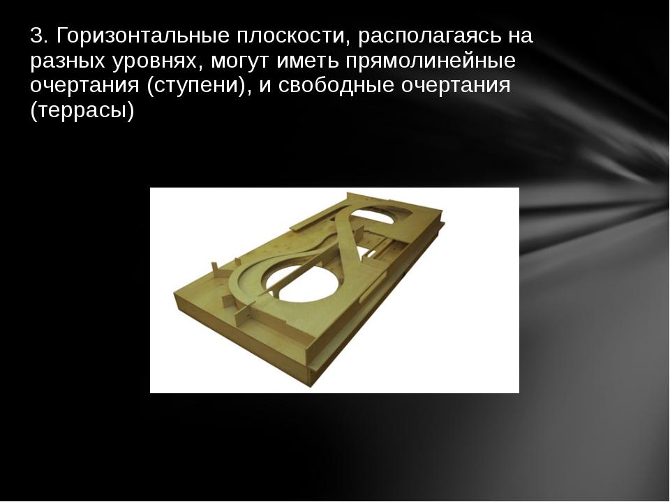 3. Горизонтальные плоскости, располагаясь на разных уровнях, могут иметь прям...