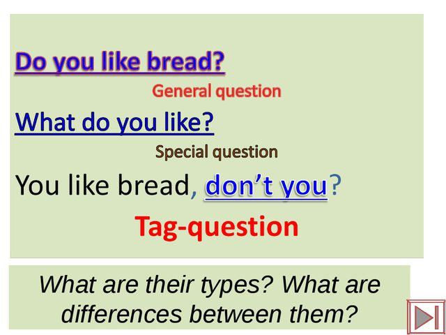 What are their types? What are differences between them?