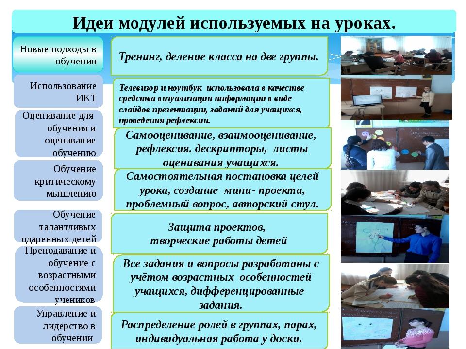 Новые подходы в обучении Использование ИКТ Оценивание для обучения и оцениван...