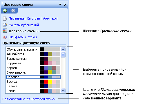 Как создать цветовую схему
