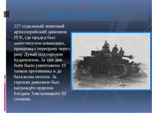 227 отдельный зенитный артиллерийский дивизион РГК, где прадед был заместител