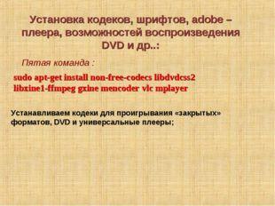 Установка кодеков, шрифтов, adobe – плеера, возможностей воспроизведения DVD
