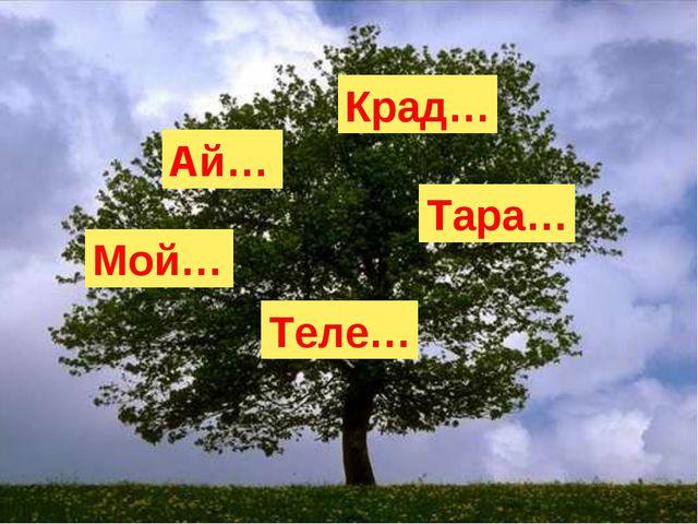 Ай… Крад… Мой… Тара… Теле…
