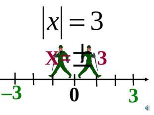 0 –3 3 X= 3