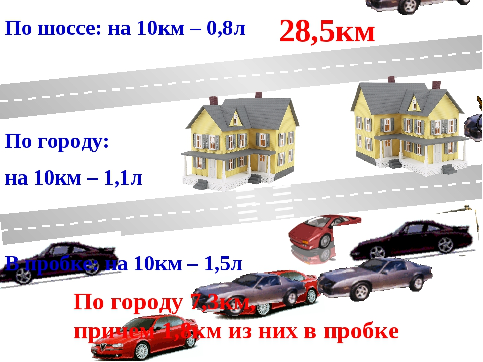 По шоссе: на 10км – 0,8л По городу: на 10км – 1,1л В пробке: на 10км – 1,5л 2...