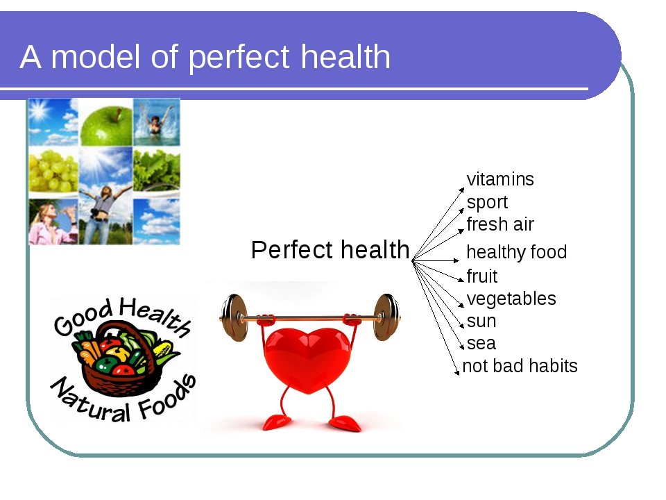 A model of perfect health vitamins sport fresh air Perfect health healthy foo...