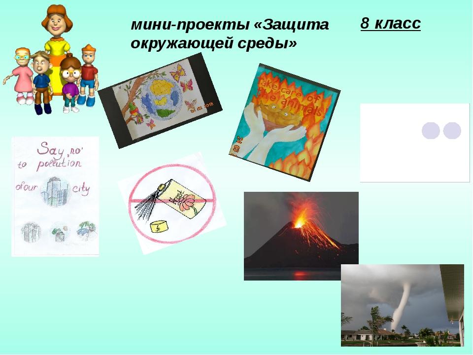 8 класс мини-проекты «Защита окружающей среды»