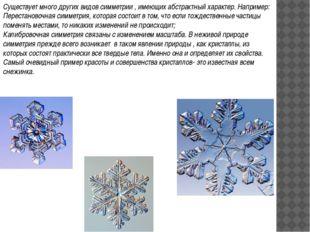 Существует много других видов симметрии , имеющих абстрактный характер. Напри