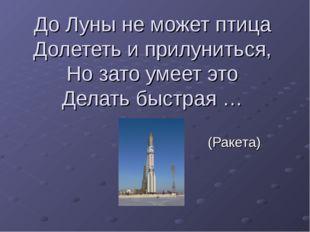 До Луны не может птица Долететь и прилуниться, Но зато умеет это Делать быстр