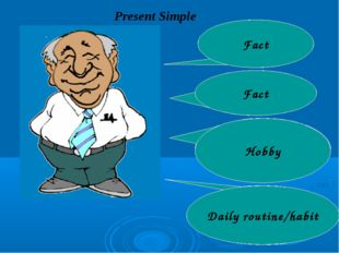 Present Simple My name is Michael. I am 65 year old. I always read a book in