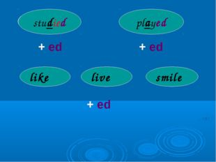 study play + ed + ed studied played like live smile + ed d d d