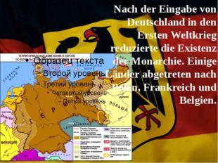 Nach der Eingabe von Deutschland in den Ersten Weltkrieg reduzierte die Exis